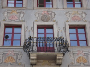 Lucerne Building with Balcony